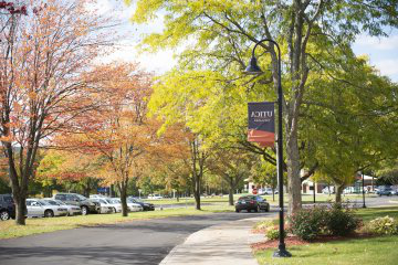 Campus Scenic Fall - Parking Lot Cars